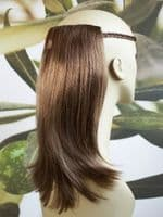 LIGHT BROWN/HIGHLIGHTS 1 PIECE HAIR EXTENSION 14